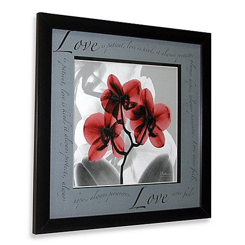 Inspiration Floral X-Ray Love Wall Art