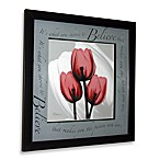 Inspiration Floral X-Ray Believe Wall Art