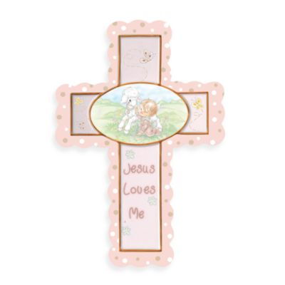 Precious Moments® Jesus Loves Me in Girl Cross with Stand