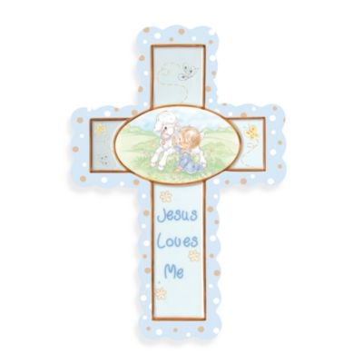Precious Moments® Jesus Loves Me in Boy Cross with Stand