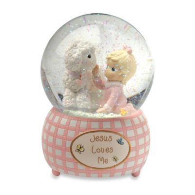 Girl Musical Water Globe Keepsakes