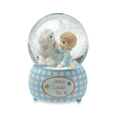 Boy Musical Water Globe Keepsakes