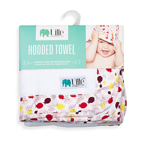 Bebe au Lait®  Lille™ Girl Fishies Hooded Towel
