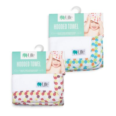 Bebe au Lait® Lille™ Swirls Hooded Towel