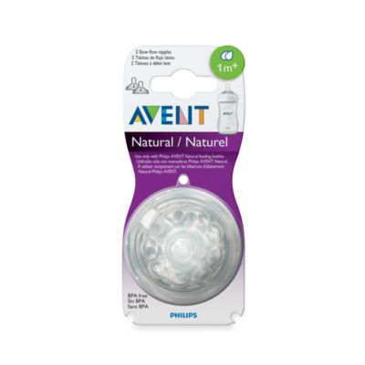 AVENT Natural Nipple 2-Pack 1 to 3 Months