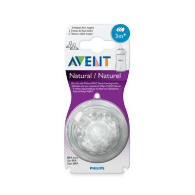 AVENT Natural Nipple 2-Pack 3 to 6 Months