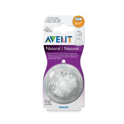Bottle Nipples > AVENT Natural Nipple 2-Pack 6 Months+