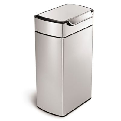 simplehuman® 40-Liter Rectangular Brushed Stainless Steel Touch Bar Trash Can