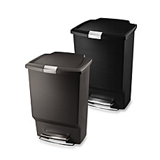 simplehuman® Plastic Rectangular 45-Liter Step-On Trash Can