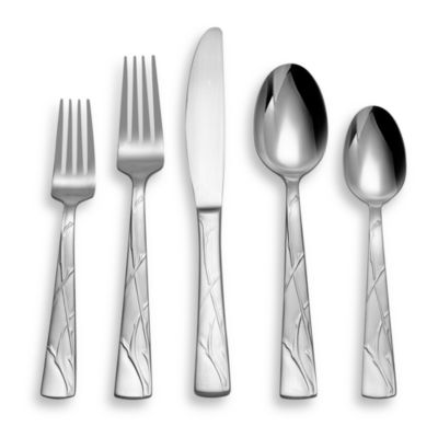 Hampton Silversmiths Insbrook Satin 20-Piece Flatware Set