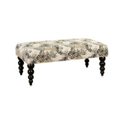 Linon Home Chloe 40-Inch Butterfly Bench