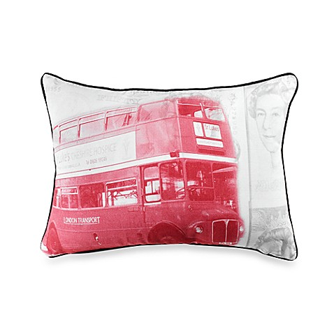 Linen House® Frequent Flyer Bus Oblong Throw Pillow