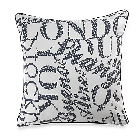 Linen House® Grand Tour Writing Square Throw Pillow