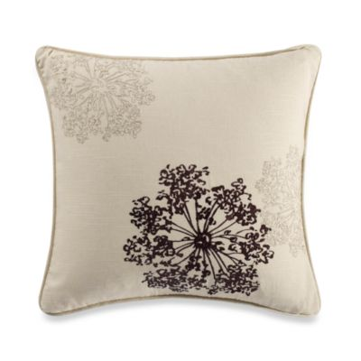 B. Smith Aqua Latte Square Toss Pillow