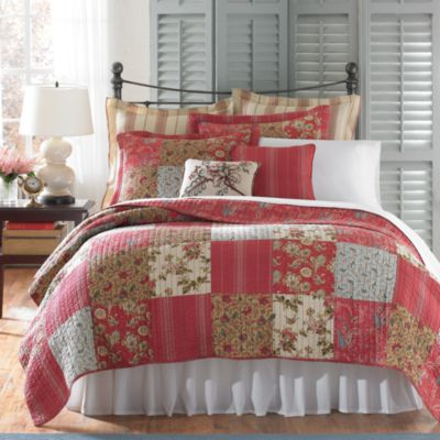 B. Smith Diantha King Quilt in Red