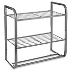 2-Tier Satin Nickel Shelf with Towel Bars
