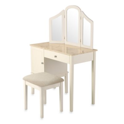 Linon Home Darlington Vanity and Bench Set