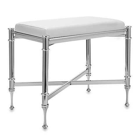 Buy Chrome Vanity Stools from Bed Bath & Beyond