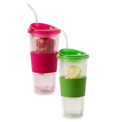 Rove 20-Ounce Double Wall Deluxe Tumblers with Infuser Lid