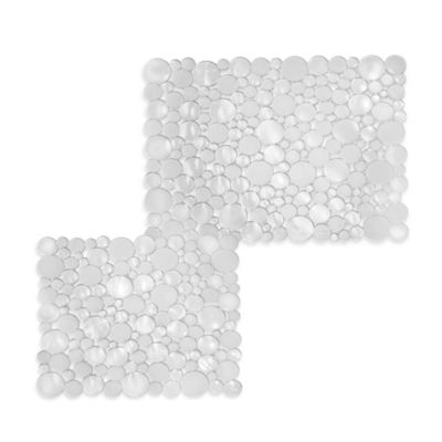 interDesign® Bubbli Clear Sink Mats