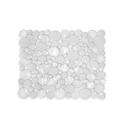 InterDesign® Bubbli Small Sink Mat in Clear
