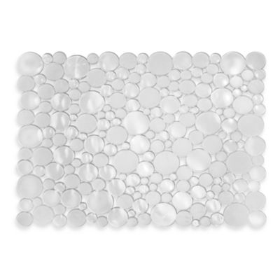 InterDesign® Bubbli Large Sink Mat in Clear