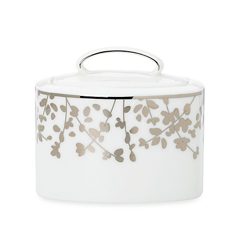 kate spade new york Gardner Street™ Platinum Covered Sugar Bowl