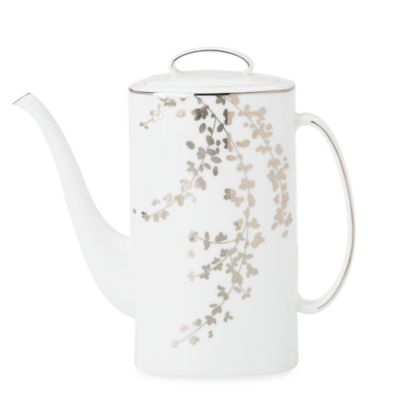 kate spade new york Gardner Street Platinum 52-Ounce Coffeepot