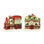Spode® Christmas Tree 3 1/4-Inch Train Salt & Pepper Set