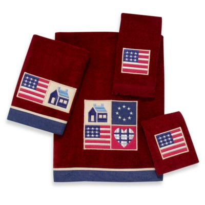 Avanti American Quilt Fingertip Towel in Brick
