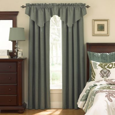 Sound Asleep™ Room Darkening Back Tab Window Valance in Blue