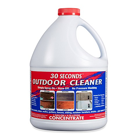 30 SECONDS™ Outdoor Cleaner 1-Gallon Concentrate - Bed ...