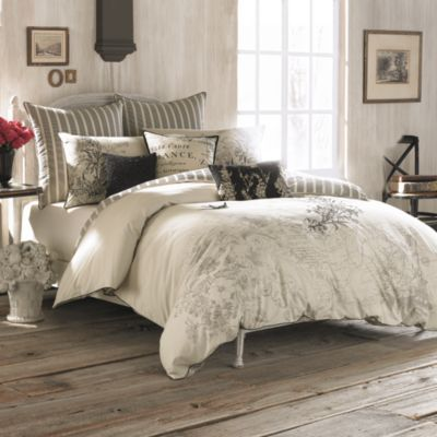 Anthology™ Amour Embroidered Reversible King Comforter Set