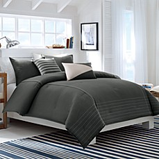Nautica Crew Charcoal Comforter Set, 100% Cotton