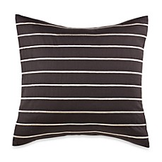 Nautica Crew Charcoal Striped Square Throw Pillow