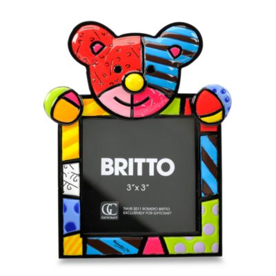 Britto™ R.B. Polyresin and Glass 3-Inch x 3-Inch Square Bear Frame
