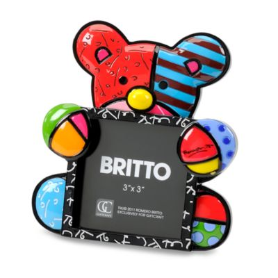 Britto™ R.B. Polyresin and Glass 3-Inch x 3-Inch Bear Frame