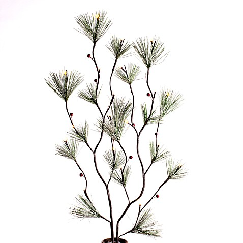 39-Inch Snow-Covered Pine Lighted Branches (20 Light Set)