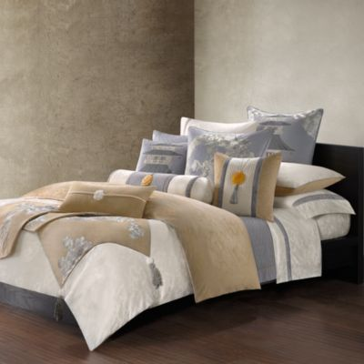Natori Lotus Temple King Coverlet