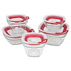 Rubbermaid® 12-Piece Glass Food Storage Container Set with Easy-Find Lid