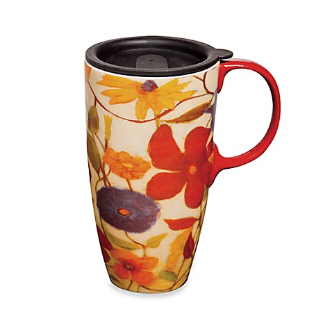 Floral Spice Travel Mug with Lid