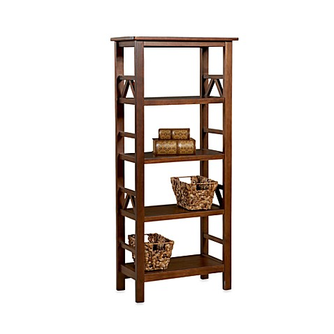 Linon Home Dylan 4-Shelf Bookcase