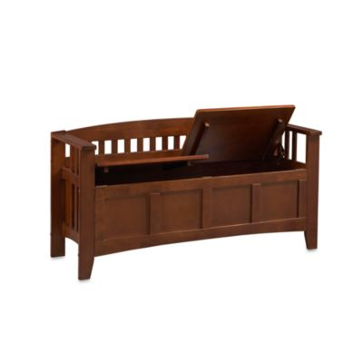 Linon Home Zuma Short Back Storage Bench