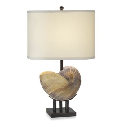 Pacific Coast Lighting Kaanapali Seashell Table Lamp in Beige with CFL Bulb