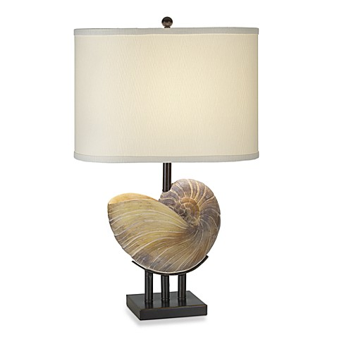 Pacific Coast Lighting Kaanapali Seashell Table Lamp in Bronze