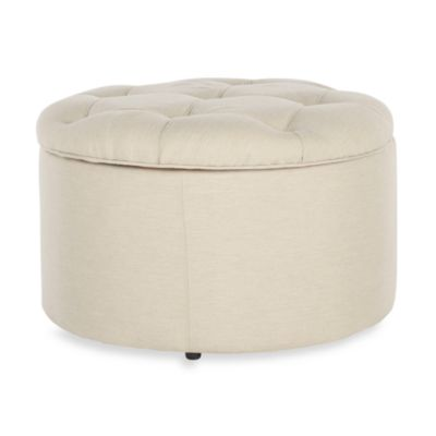 Safavieh Tanisha Shoe Ottoman in Cream
