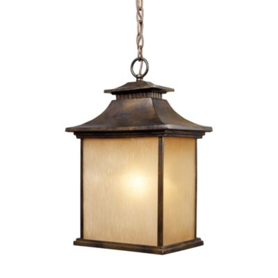 ELK Lighting San Gabriel 1-Light Outdoor Pendant in Hazelnut Bronze