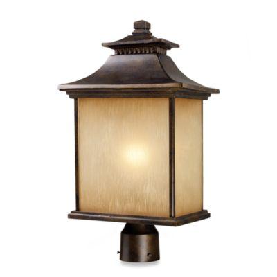 ELK Lighting San Gabriel 1-Light Outdoor Post in Hazelnut Bronze