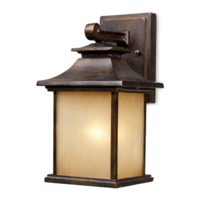ELK Lighting San Gabriel 1-Light Small Outdoor Sconce in Hazelnut Bronze