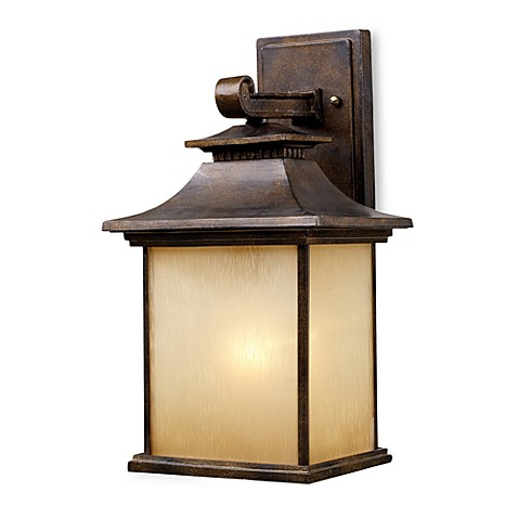 ELK Lighting San Gabriel 1-Light 16-Inch Outdoor Sconce in Hazelnut Bronze